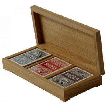 Три колоды карт в деревянной шкатулке Rovertime RTM-24
