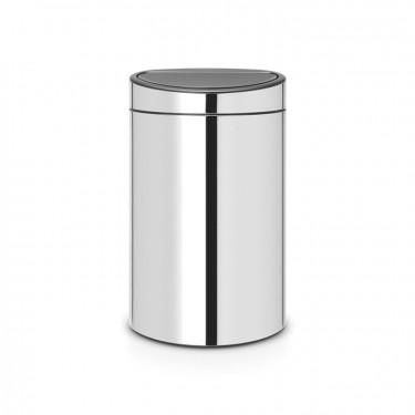 Мусорный бак Touch Bin New (40 л), Стальной полированный Brabantia 112881