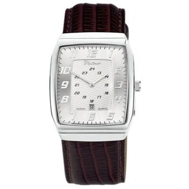 Мужские серебряные наручные часы Platinor 51300.207