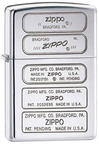Zippo Zippo 28381 зажигалка zippo герб ссср high polish chrome латунь ник хром покр серебр глянц 36х56х12мм