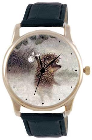 Shot Дизайнерские наручные часы Shot Concept Ежик в густом тумане черн. рем.