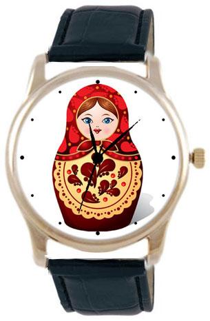 Shot Дизайнерские наручные часы Shot Concept Матрешка черн. рем.