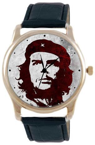 Shot Дизайнерские наручные часы Shot Concept Че Гевара черн. рем.