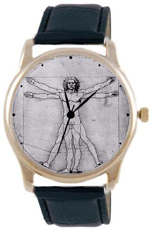 Shot Дизайнерские наручные часы Shot Concept Vitruvian Man черн. рем.