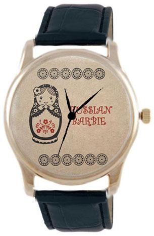 Shot Дизайнерские наручные часы Shot Concept Матрешка-2 черн. рем.