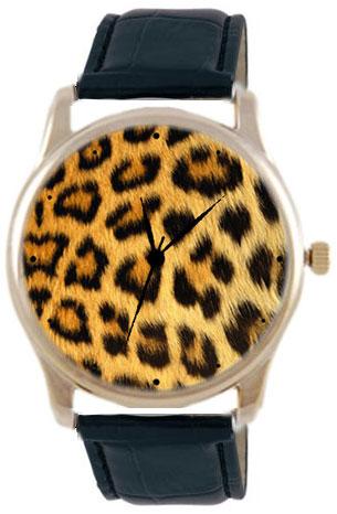 Shot Дизайнерские наручные часы Shot Concept Леопард черн. рем.