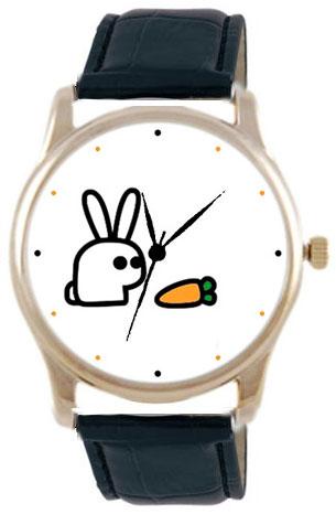 Shot Дизайнерские наручные часы Shot Concept Охота на морковку черн. рем.