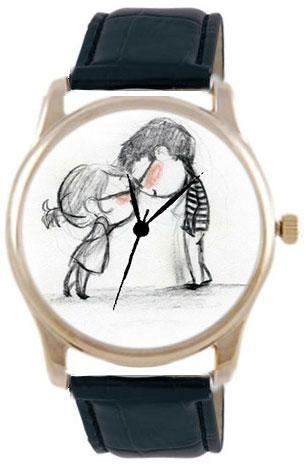Shot Дизайнерские наручные часы Shot Concept Love черн. рем.