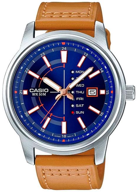 Casio Casio MTP-E128L-2A2 часы casio mtp 1374d 5a
