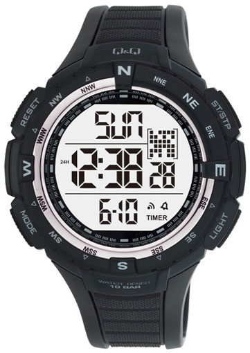 Мужские японские электронные наручные часы Q&Q