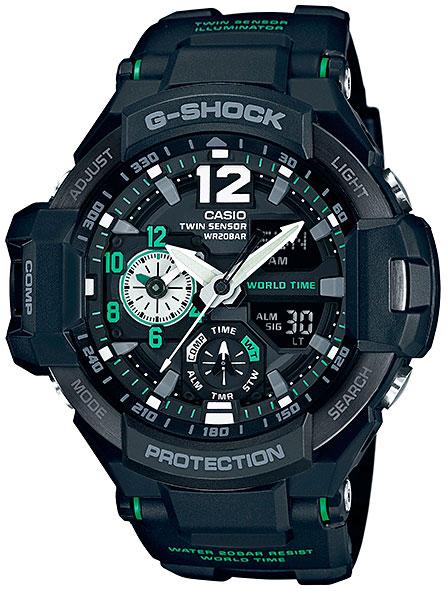 Casio Casio GA-1100-1A3 часы наручные casio часы g shock ga 1100 1a3