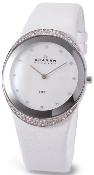 женские белые часы. продажа 452LSLW Женские наручные часы Женские наручные часы Skagen в интернет онлайн магазине