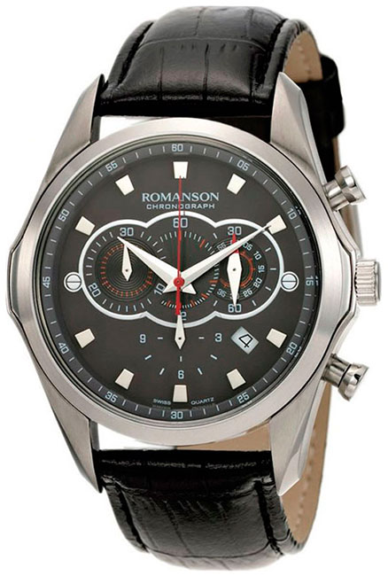 Romanson Romanson TL 3207H MW(BK)BK наручные часы romanson tl2617mw bk bk