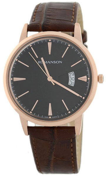 Romanson Romanson TL 4201 MR(BK)BN наручные часы romanson tl2617mw bk bk