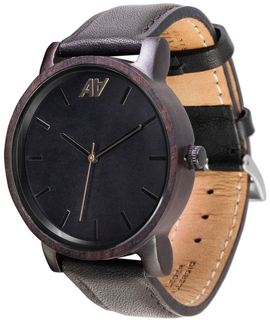 AA Wooden Watches AA Wooden Watches V1 Black ns10 tv00b v1 ns10 tv00 v1