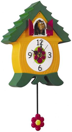 Lowell Настенные интерьерные часы с маятником и кукушкой Lowell 50034