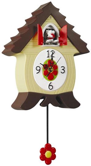 Lowell Настенные интерьерные часы с маятником и кукушкой Lowell 50035