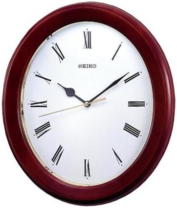 Seiko Деревянные настенные интерьерные часы Seiko QXA147B