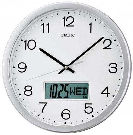 Seiko Пластиковые настенные интерьерные часы Seiko QXL007S