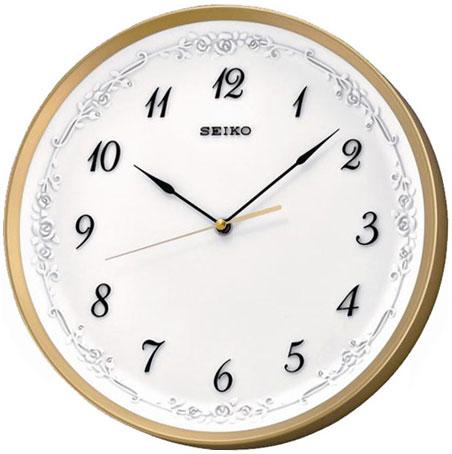 Seiko Пластиковые настенные интерьерные часы Seiko QXA546G