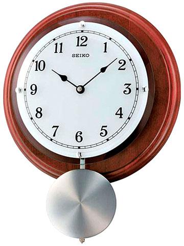 Seiko Деревянные настенные интерьерные часы с маятником Seiko QXC216B