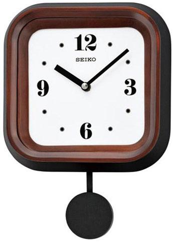 Seiko Деревянные настенные интерьерные часы с маятником Seiko QXC223B