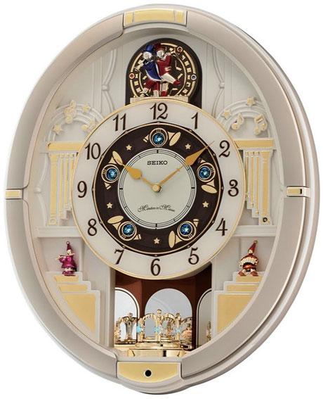 Seiko Пластиковые настенные интерьерные часы Seiko QXM290S