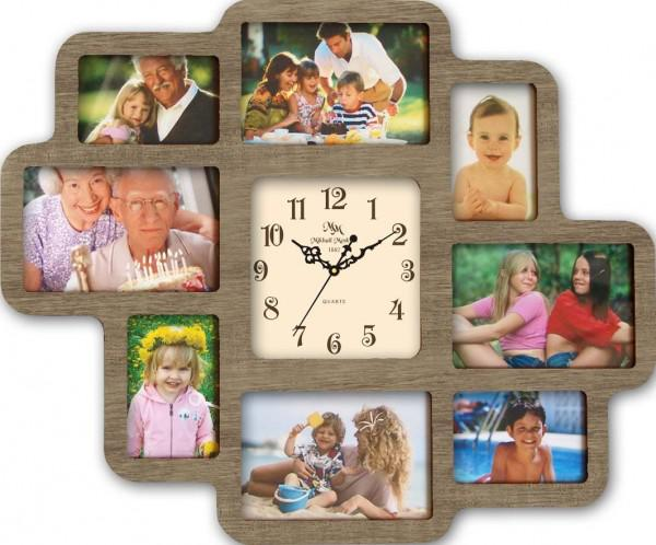 Часы с фоторамками настенные