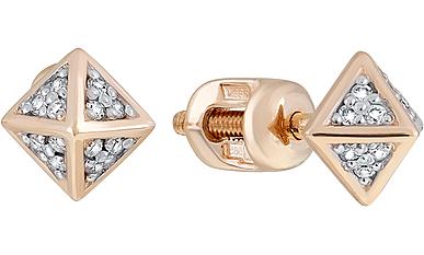 Магия Золота Магия Золота Пуссеты с бриллиантом 127038 магия золота пуссеты с сапфиром 26650
